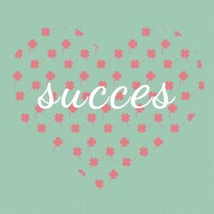 succes met hart